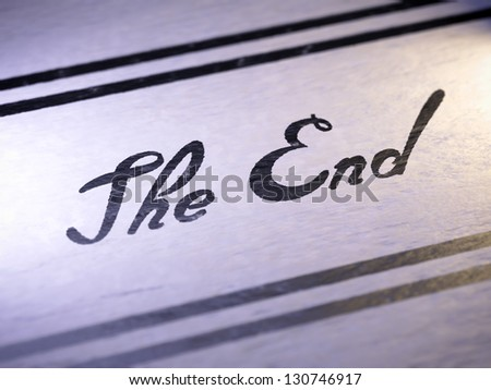 The end - stock photo