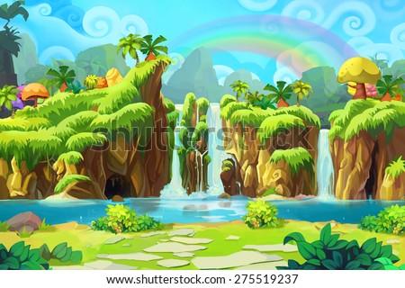 The End of the Rainbow - Scene Design - stock photo