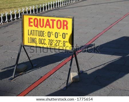 The Equator - stock photo