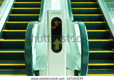 The escalator moving - stock photo