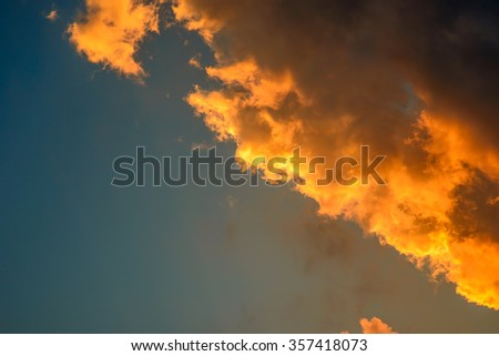 the evening sky - stock photo
