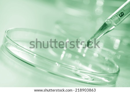 The experiment of researcher in laboratory room. - stock photo