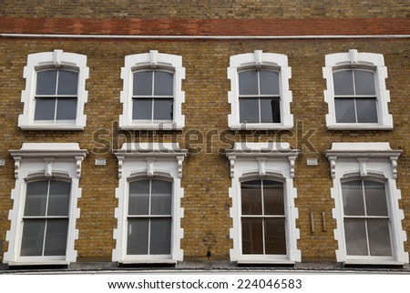 the exterior of some beautiful london apartments - stock photo