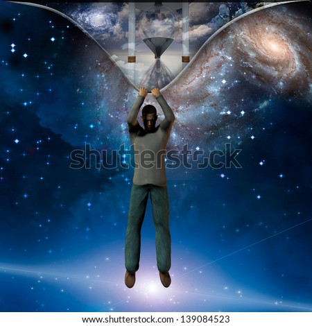 The fabric of time revealed - stock photo