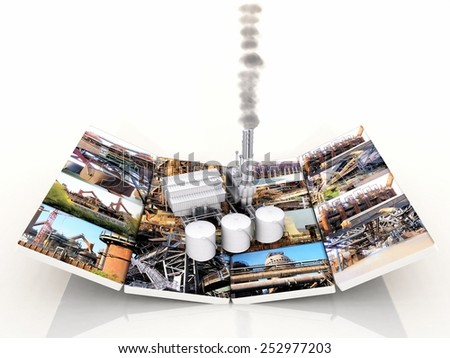 the factory and factory pictures - stock photo
