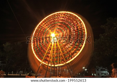 The fair at night.  - stock photo