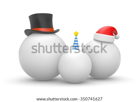 The family of balls waiting holidays - stock photo