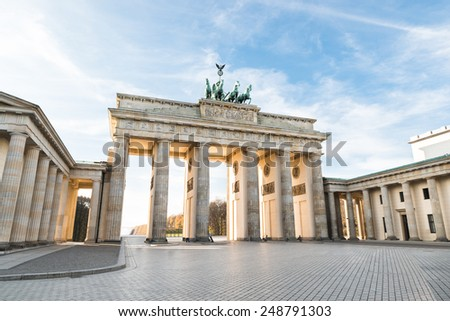 The Famous Brandenburg Gate In Berlin. Germany - stock photo