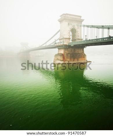 The famous Chain Bridge, Budapest - stock photo
