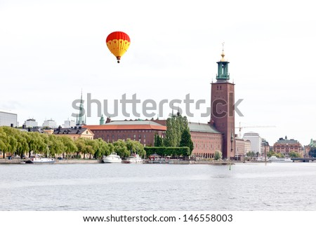 The famous City hall of Stockholm Sweden - stock photo
