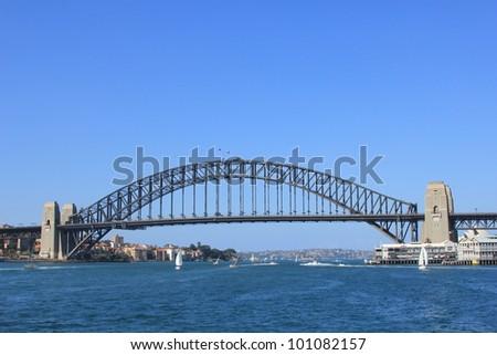 The famous Harbour bridge in Sydney - stock photo