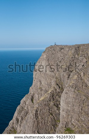 The famous North Cape in Norway. - stock photo