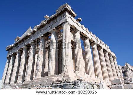 the famous parthenon monument of athens, greece - stock photo