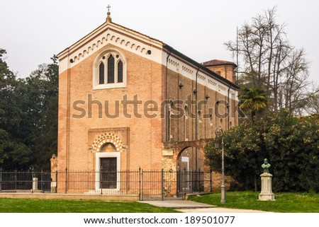 The famous Scrovegni Chapel in Padua - stock photo