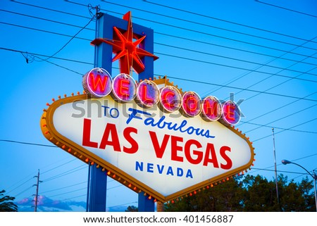 "The famous ""Welcome to Las Vegas"" sign. - stock photo"