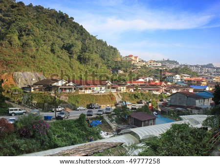 The farming community of Cameron Highlands in Malaysia. - stock photo