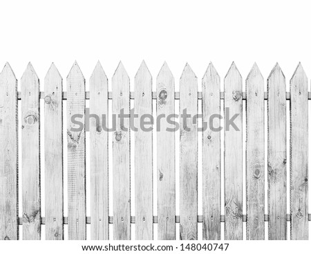 The fence isolated on a white background - stock photo