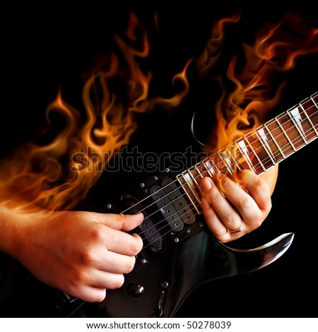 The fiery virtuoso - stock photo