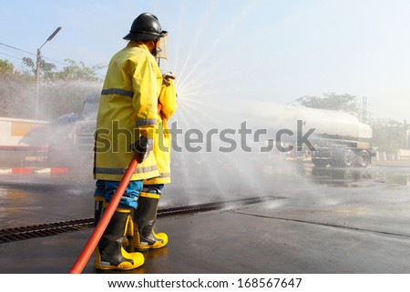 The fire drill - stock photo