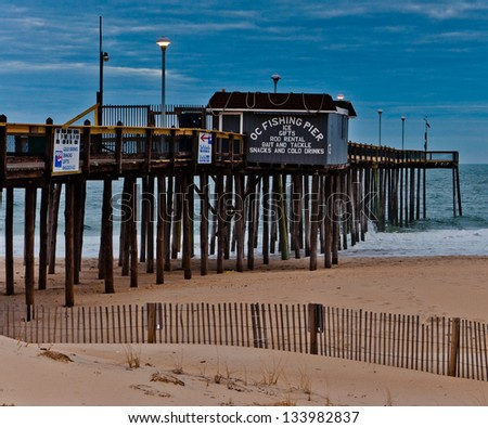 The fishing pier at Ocean City, Maryland - stock photo