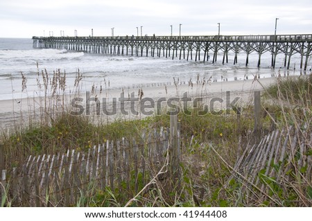 Topsail stock photos images pictures shutterstock for Surf city fishing pier