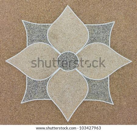 the flower gravel stone floor interior decoration - stock photo
