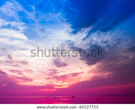 The flower of dawn unfurled - stock photo