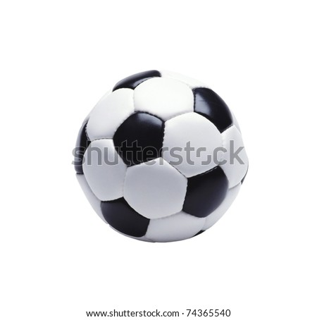 The football isolated on a white background - stock photo