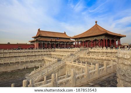 The Forbidden City. Beijing, China - stock photo