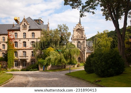 The former Cistercian monastery Pforta in Schulpforte - stock photo