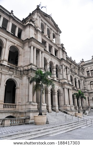 The former Queensland Government Treasury Building, Brisbane (Australia) - stock photo