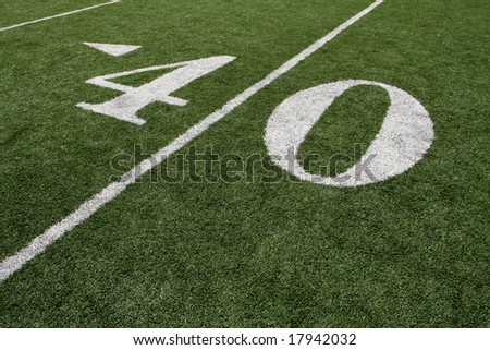 The Forty Yard Line - stock photo