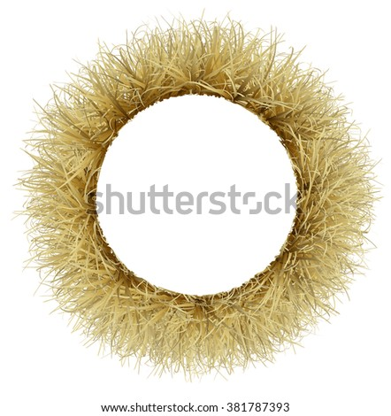 The frame is made from dry Golden grass - stock photo