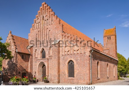 The Franciscan monastery situated in the swedish town of Ystad. - stock photo
