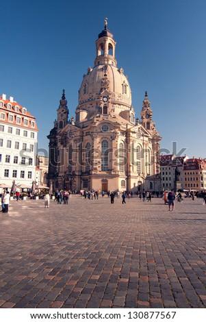 The Frauenkirche- Dresden - Germany - stock photo