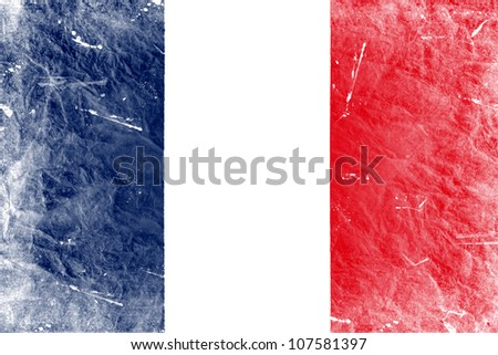 The French flag painted in vintage style - stock photo
