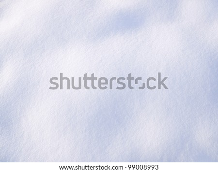 The fresh dropped out snow. Natural background. - stock photo