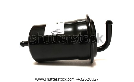 The fuel filter on a white background - stock photo