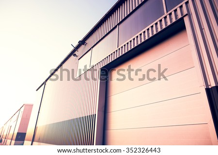 The gate to the factory - stock photo