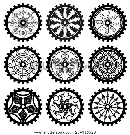 the gears - stock photo