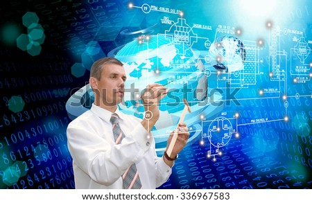 The Generation innovation cosmic technology.Science research space - stock photo