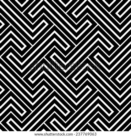 The geometric pattern by stripes . Seamless  background. Black texture. - stock photo