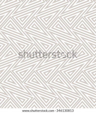 The geometric pattern with lines, stripes. Seamless background. Beige and white texture - stock photo
