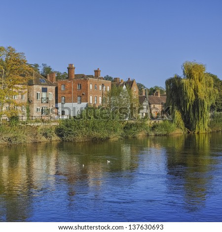 The georgian market town of bewdley alongside the river severn in the severn valley worcestershire the midlands england. - stock photo