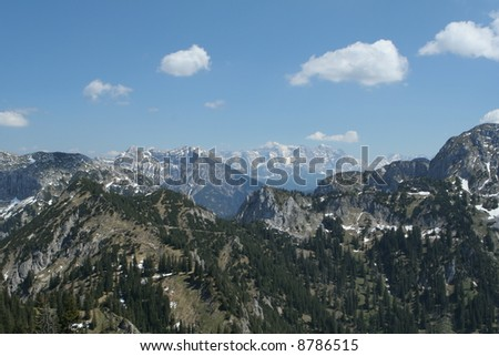 The German Alps - stock photo