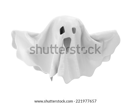 The Ghost isolated on white background - stock photo