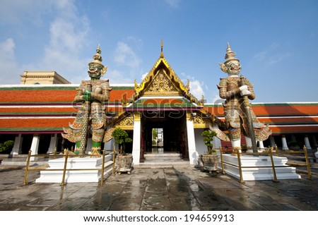 THe giant in the grand palace,Bangkok Thailand. - stock photo