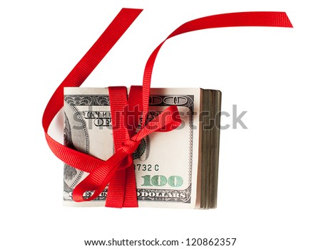 The gift of Cash - stock photo