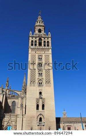 The Giralda Tower in Seville - stock photo