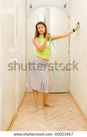 The girl - stock photo